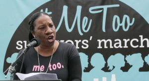 Tarana Burke at #MeToo Rally